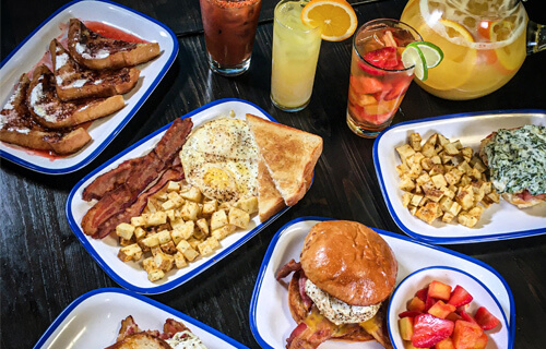 delicious brunch menu from Lola's restaurant, Tyler TX