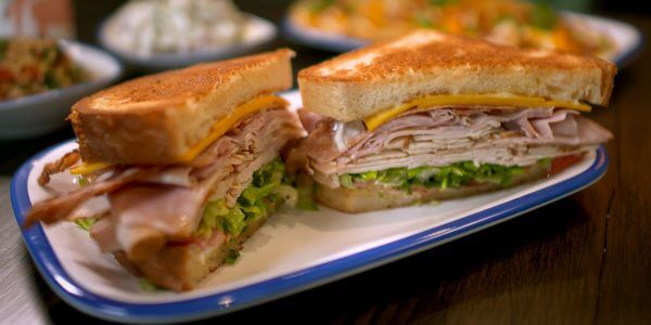club sandwich from the menu at Lola's restaurant, Tyler TX