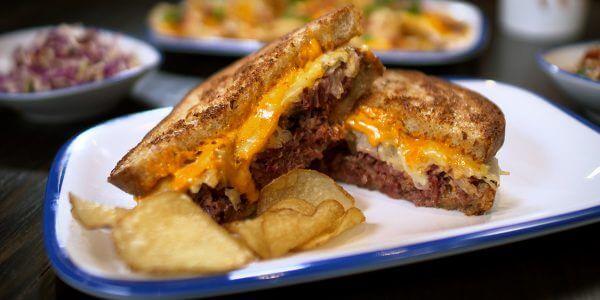 reuben sandwich from the menu at Lola's restaurant, Tyler TX