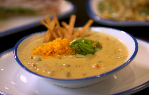 delicious soups from the menu at Lola's restaurant, Tyler TX