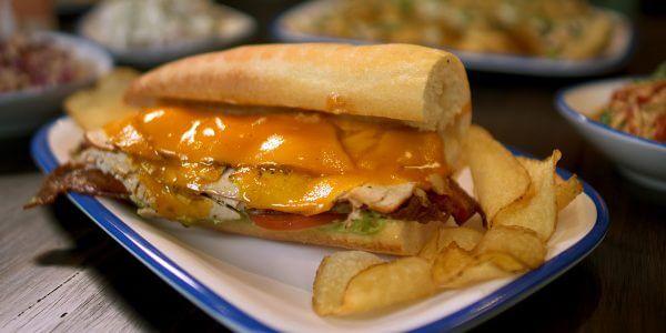 tabc sandwich from the menu at Lola's restaurant, Tyler TX
