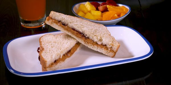 PeanutButter&Jelly from kids menu at Lola's restaurant in Tyler Texas
