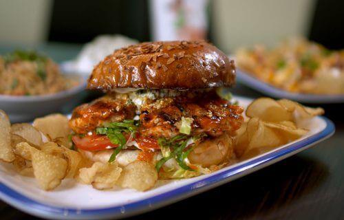 bleu bird sandwich from the menu at Lola's restaurant, Tyler TX
