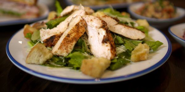 caesar salad from the menu at Lola's restaurant, Tyler TX
