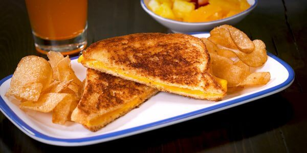 Grilled cheese from kids menu at Lola's sandwiches restaurant in Tyler Texas
