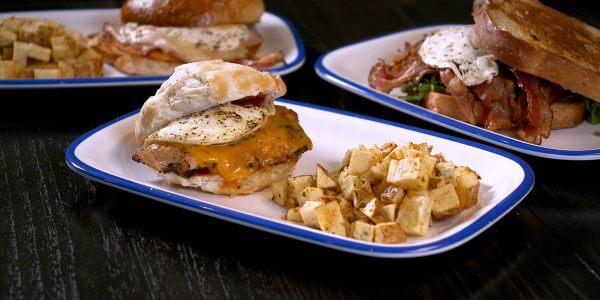 early bird sandwich from brunch menu at Lola's restaurant, Tyler TX