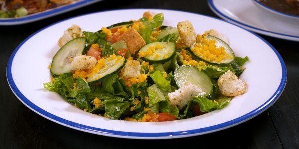 garden salad from the menu at Lola's restaurant, Tyler TX