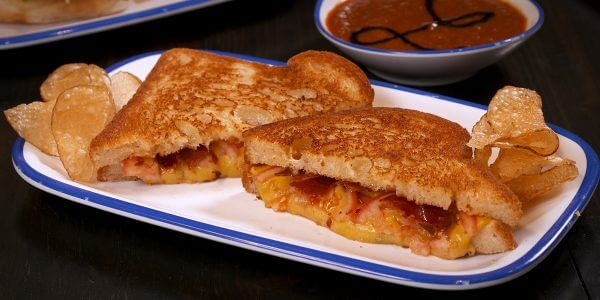 gilled cheese sandwich from kids menu at Lola's restaurant, Tyler TX