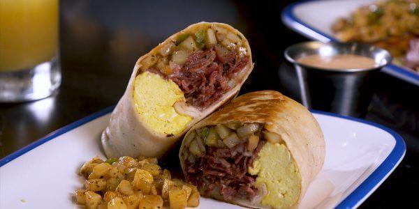 Hasharrito burrito in Lola's restaurant in Tyler