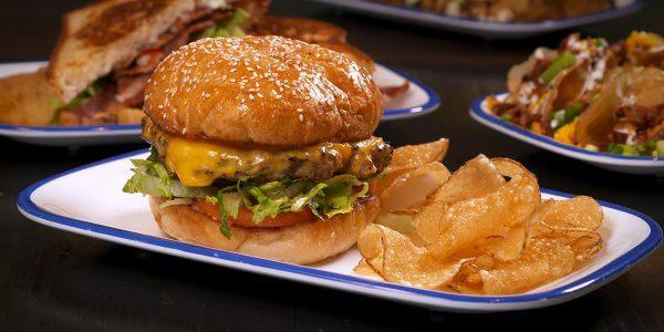 sandwich lolas burger from the menu at Lola's restaurant, Tyler TX