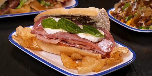 mob boss sandwich from the menu at Lola's restaurant, Tyler TX