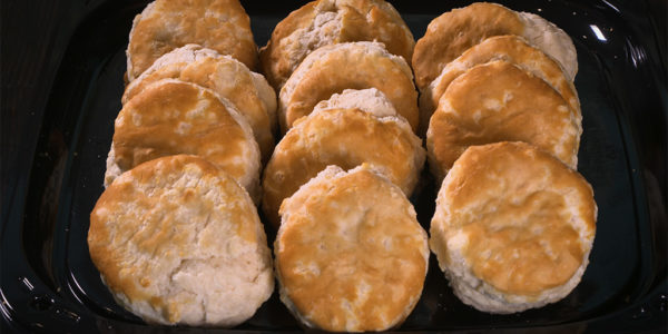 Biscuits to order from Lola's sandwiches bakery in Tyler Texas